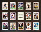 "NFL 16""x20"" Dallas Cowboys Super Bowl 27,28 and 30 - 14-Card Plaque"