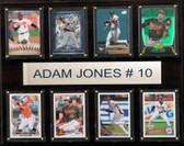 """MLB 12""""x15"""" Adam Jones Baltimore Orioles 8-Card Plaque"""