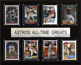 """MLB 12""""x15"""" Houston Astros All-Time Greats Plaque"""