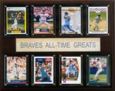"MLB 12""x15"" Atlanta Braves All-Time Greats Plaque"