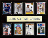 "MLB 12""x15"" Chicago Cubs All-Time Greats Plaque"