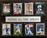 """MLB 12""""x15"""" Cleveland Indians All-Time Greats Plaque"""