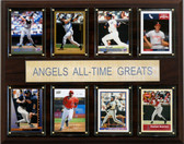 """MLB 12""""x15"""" Los Angeles Angels All-Time Greats Plaque"""