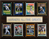 """MLB 12""""x15"""" Seattle Mariners All-Time Greats Plaque"""