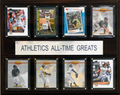 """MLB 12""""x15"""" Oakland Athletics All-Time Greats Plaque"""
