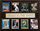 """MLB 12""""x15"""" Baltimore Orioles All-Time Greats Plaque"""