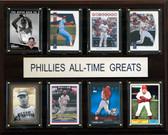 "MLB 12""x15"" Philadelphia Phillies All-Time Greats Plaque"