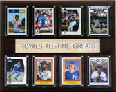 "MLB 12""x15"" Kansas City Royals All-Time Greats Plaque"