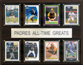 """MLB 12""""x15"""" San Diego Padres All-Time Greats Plaque"""