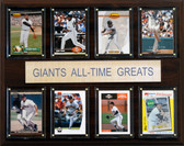 """MLB 12""""x15"""" San Francisco Giants All-Time Greats Plaque"""