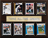 "MLB 12""x15"" Minnesota Twins All-Time Greats Plaque"