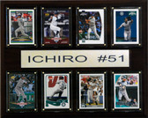 "MLB 12""x15"" Ichiro Seattle Mariners 8 Card Plaque"