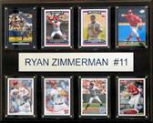 "MLB 12""x15"" Ryan Zimmerman Washington Nationals 8-Card Plaque"