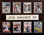 "MLB 12""x15"" Joe Mauer Minnesota Twins 8 Card Plaque"