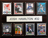 "MLB 12""x15"" Josh Hamilton Texas Rangers 8 Card Plaque"