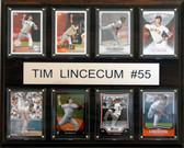 "MLB 12""x15"" Tim Lincecum San Francisco Giants 8 Card Plaque"