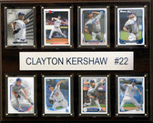 "MLB 12""x15"" Clayton Kershaw Los Angeles Dodgers 8-Card Plaque"