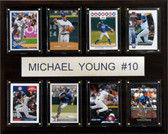 "MLB 12""x15"" Michael Young Texas Rangers 8 Card Plaque"
