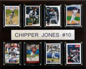 """MLB 12""""x15"""" Chipper Jones Atlanta Braves 8 Card Plaque"""