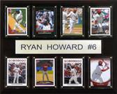 "MLB 12""x15"" Ryan Howard Philadelphia Phillies 8 Card Plaque"
