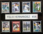 "MLB 12""x15"" Felix Hernandez Seattle Mariners 8-Card Plaque"