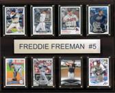 """MLB 12""""x15"""" Freddie Freeman Atlanta Braves 8-Card Plaque"""