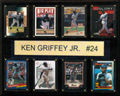 "MLB 12""x15"" Ken Griffey Jr. Seattle Mariners 8-Card Plaque"