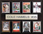 "MLB 12""x15"" Cole Hamels Philadelphia Phillies 8-Card Plaque"