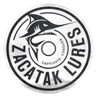 Zacatak Lures Vinyl Sticker Decal 20cm Round White