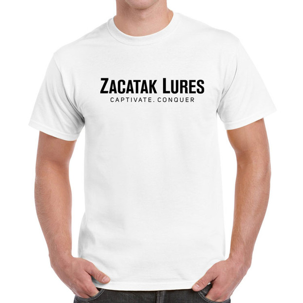 Zacatak Lures T Shirt in White - Front