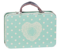 Maileg Metal Suitcase Big Blue Dots