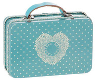 Maileg Metal Suitcase Blue Small Dots
