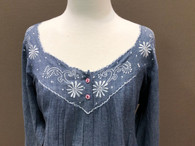 French Country Long Sleeved Nightie FCA103