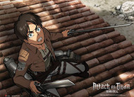 Fabric Poster Attack on Titan Eren Fear (Wall Art) ge79074