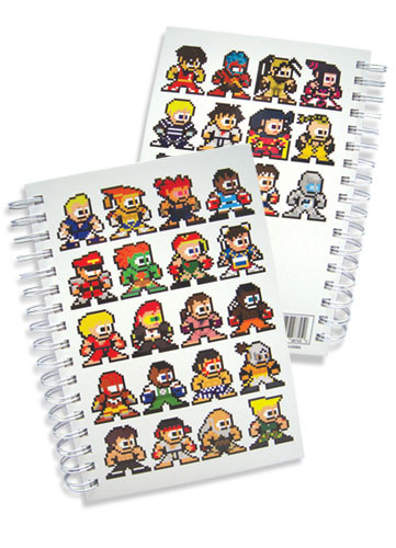 """Street Fighter IV New 8-Bit Gifts HC 9x6/"""" Toy Anime Licensed ge8745 Notebook"""