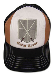 Baseball Cap Attack on Titan Cadet Crops Brown/White ge32233