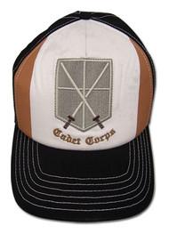 Baseball Cap Attack on Titan Cadet Crops Brown/White ge32233