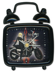 "Desk Clock Mini Fate/Zero Saber on Motorcycle 3"" ge19028"