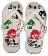 Foot Wear Black Butler Ciel Sebastian Grell Flip Flop Slippers ge74519