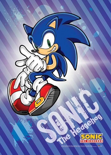 Wall Scroll Sonic The Hedgehog Sonic Fabric Poster Ge5283 Hobby Hunters