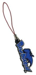 Cell Phone Charm Blue Dragon Logo ge8175