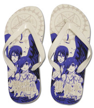 Foot Wear Black Butler Ciel Sebastian Flip Flop Slippers 26cm ge74517
