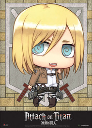 Fabric Poster Attack on Titan SD Christa Wall Scroll ge79085