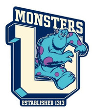 Car Magnet Disney Monster University Sulley 21963