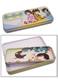 Pencil Case Nisemonogatari Araragi Sister & Tsubasa Tin Box ge49003