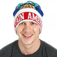 Beanie Cap Captain America Blue & Red kc158xmvl