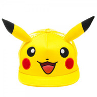 Baseball Cap Pokemon Pikachu Big Face with Ears ba1b24pok