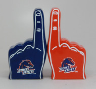 Salt & Pepper Shakers Set BOISE STATE FOAM FINGER Ceramic 9495