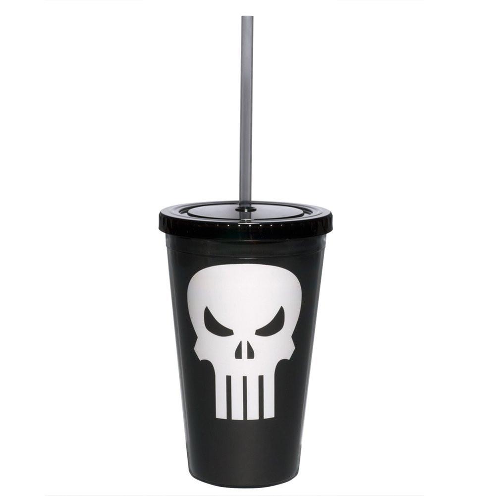 Symbol Me Mug Marvel Pnsh Acrylic Cup Travel Punisher Plastic Cc v80mNnwO