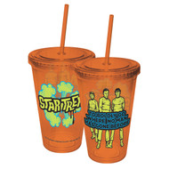 Plastic Mug Star Trek Boldly Go Colored Cup w/Straw 07951